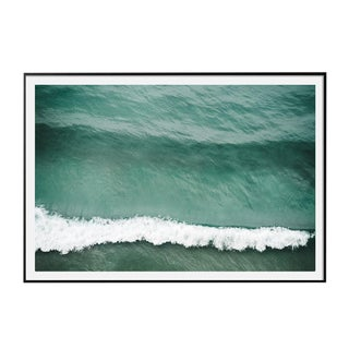 """Crest"" Large Aerial Ocean Wave Surf Photograph Coastal Art - Framed For Sale"