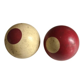 1920s Antique Billiard Balls - a Pair For Sale