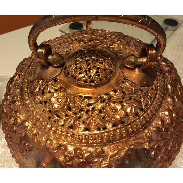 Copper Antique Copper Repousse Paan Dan Box For Sale - Image 7 of 7
