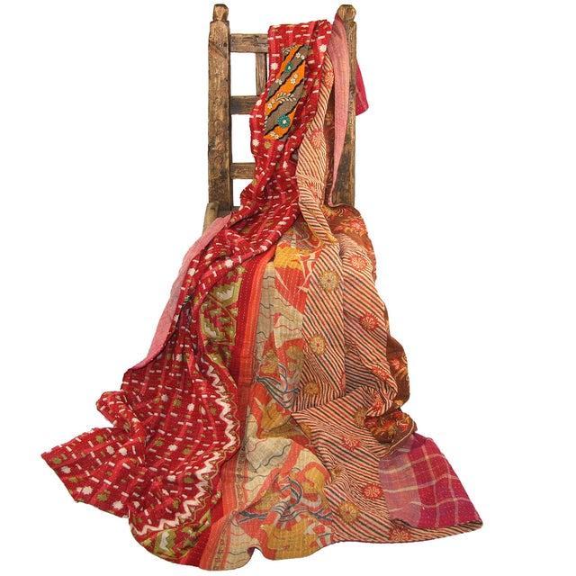 Vintage Red Kantha Quilt - Image 2 of 2