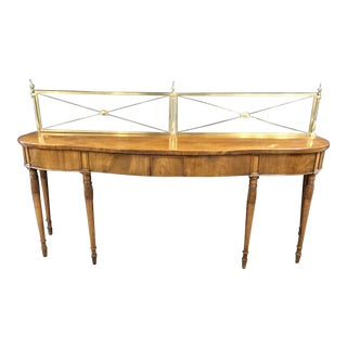 English Mahogany Server With Brass Gallery Circa 1820 For Sale