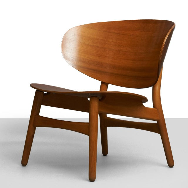 Brown Hans Wegner Shell Lounge Chairs For Sale - Image 8 of 8