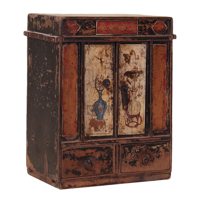C. 1920 Chinese Painted Cabinet - Image 1 of 4