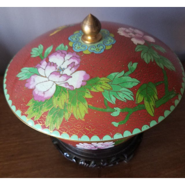 Chinese Cloisonne Bowl on Stand - Image 5 of 11