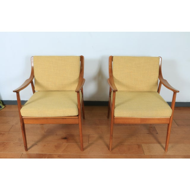 Brown 1960s Yugoslavia Yellow Side Chairs For Sale - Image 8 of 8