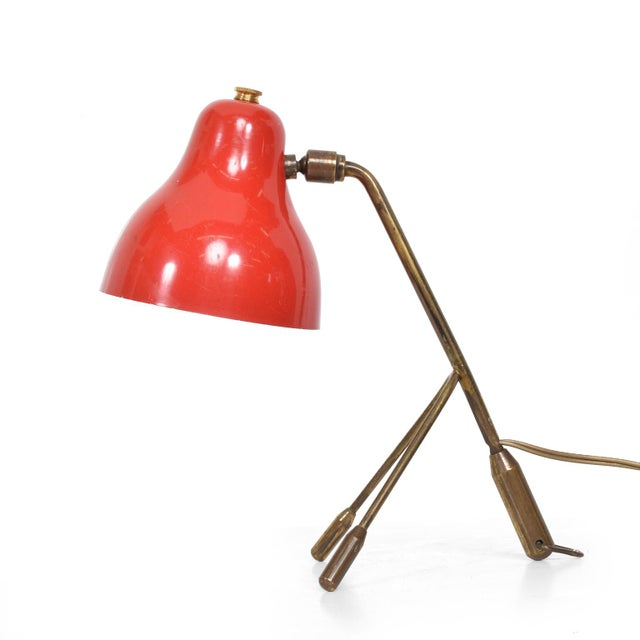 Mid Century Italian Modern Red Table Lamp -Wall Sconce For Sale In San Diego - Image 6 of 6