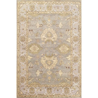 Hand Knotted Oushak Rug - 6' X 9'