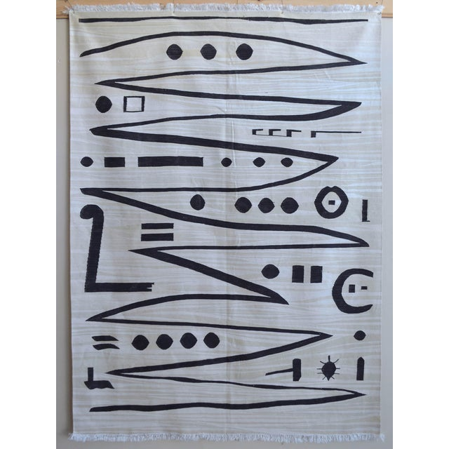 Paul Klee - Heroic Strokes of the Bow - Inspired Silk Hand Woven Area - Wall Rug 4′11″ × 6′9″ For Sale - Image 10 of 10