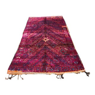 1970s Moroccan Beni Mguild Rug- 5′6″ × 10′2″ For Sale