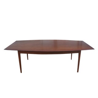 1960s Vintage Florence Knoll Walnut Dining Table For Sale