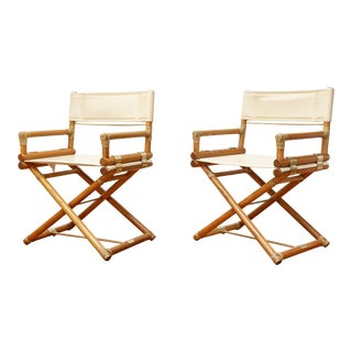 Vintage Mid-Century McGuire Director's X Chair - A Pair For Sale