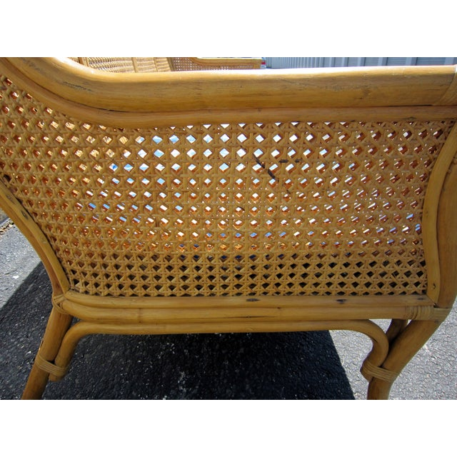 Cane & Rattan Asian Style Sofa For Sale - Image 4 of 6