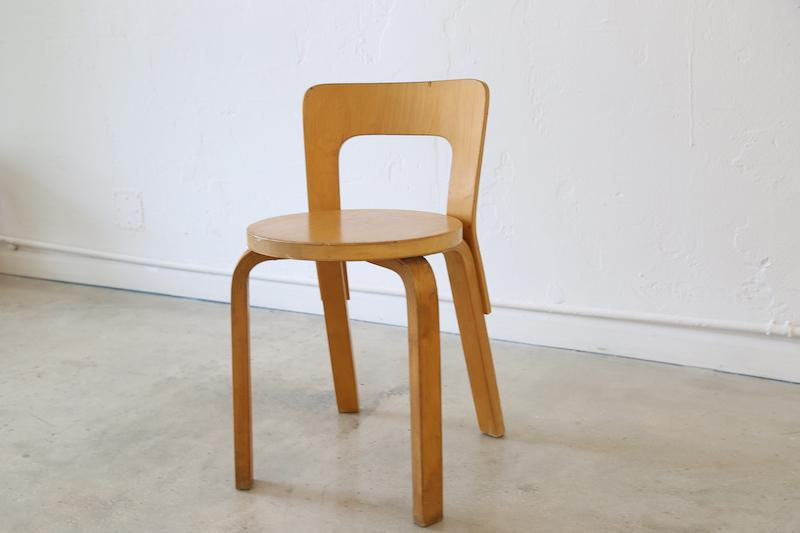 This Pre Loved Alvar Aalto Chair 65 Is A Classic Addition To Any Collection.
