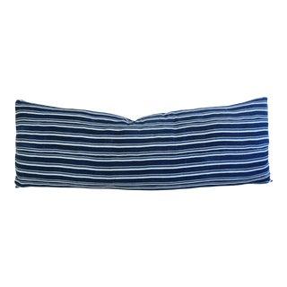 "57"" Blue & White Stripe Body Pillow"