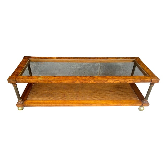 Vintage Hollywood Regency Coffee Table - Image 1 of 7