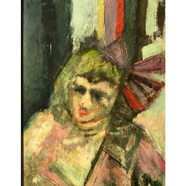 Impressionist Portrait of a Girl - Oil on Board - Signed Lucas For Sale In Palm Springs - Image 6 of 8