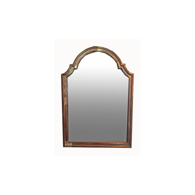 Glass 19th Century Gilded Mirror With Arched Top For Sale - Image 7 of 7