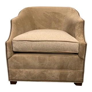 Modern Henredon Velvet Marla Chair For Sale