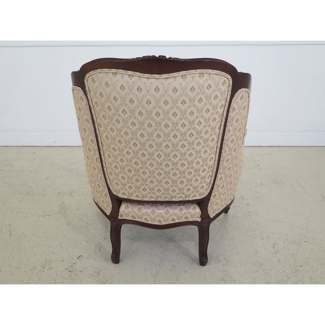 1990s Vintage Drexel Heritage French Louis XV Style Upholstered Chair For Sale - Image 9 of 11