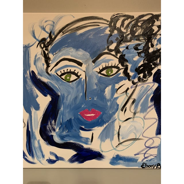 """Misty Bleu"" come from the Faces Series by Artist Ebony Boyd. This picture is quite beautiful and very eye catching. Misty..."