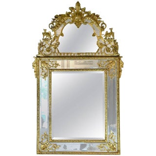 19th Century French Regence Style Giltwood Mirror For Sale