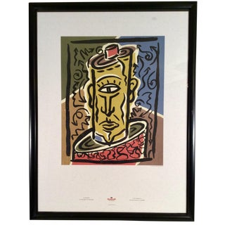 1989 Vintage Cubist Pantone Art Lithograph by Charles S. Anderson Design
