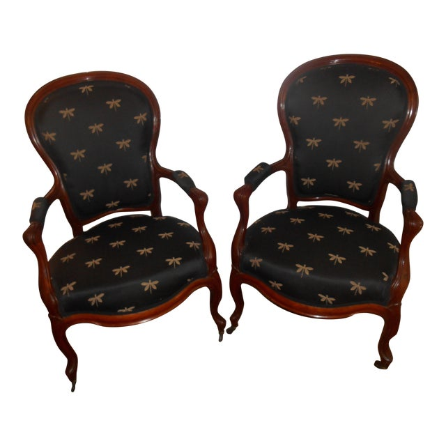 Louis XV Fauteuil Chairs - a Pair For Sale