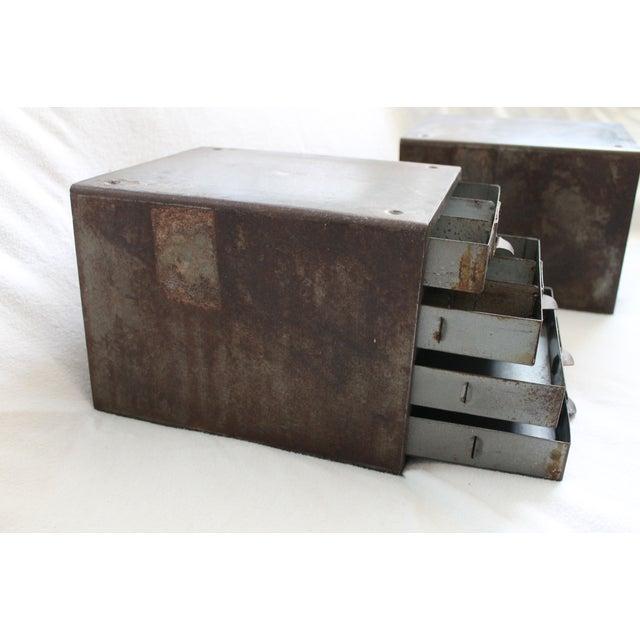 Industrial Metal Storage Desktop Cabinets - Image 10 of 11