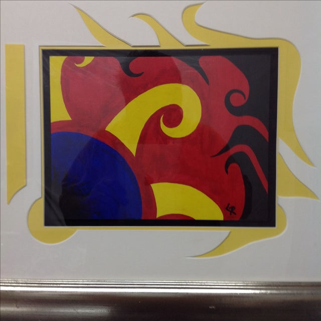 Mid-Century Modern Brilliant Abstract Multi Media Construction For Sale - Image 3 of 5