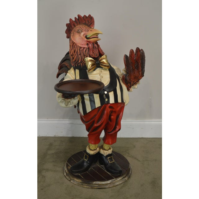 Traditional A. W. Design Large Painted Rooster Statue For Sale - Image 3 of 13