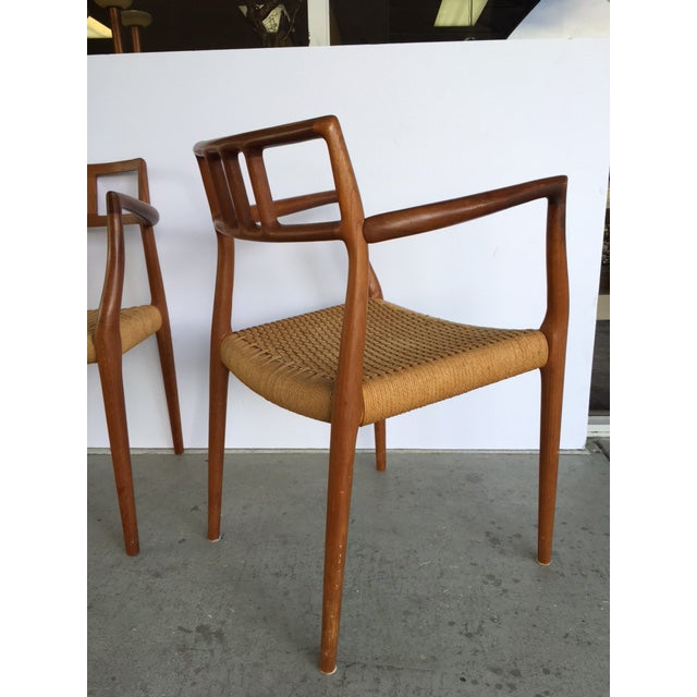 Niels Moller Model 64 Danish Modern Chairs - A Pair For Sale In Miami - Image 6 of 10