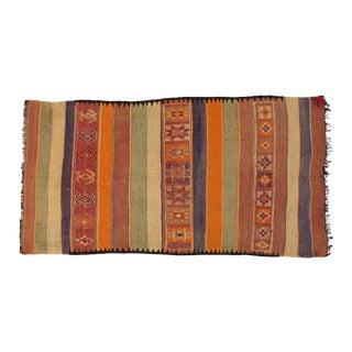 Vintage Berber Moroccan Kilim Rug - 05'02 X 09'10 For Sale