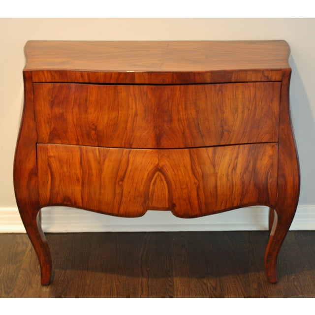Mid-Century Italian Olive Wood Commode - Image 2 of 11
