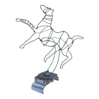 William Vallenilla Horse Wire Sculpture For Sale