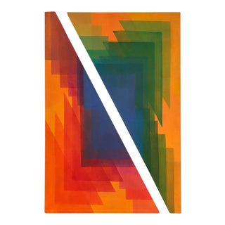 Hard Edge Shaped Canvas Paintings - A Pair