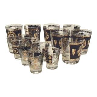 Vintage Mid Century Glasses - Set of 15 For Sale