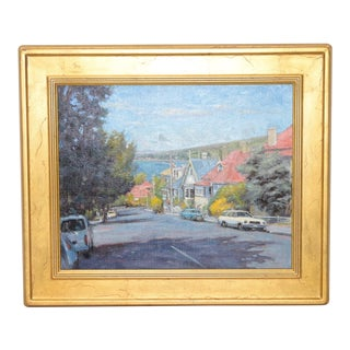 Douglas Morgan Vintage San Francisco Oil Painting
