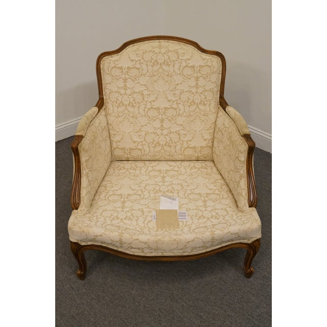 Late 20th Century Late 20th Century Vintage Ethan Allen Country French Regency Accent Arm Chair For Sale - Image 5 of 10