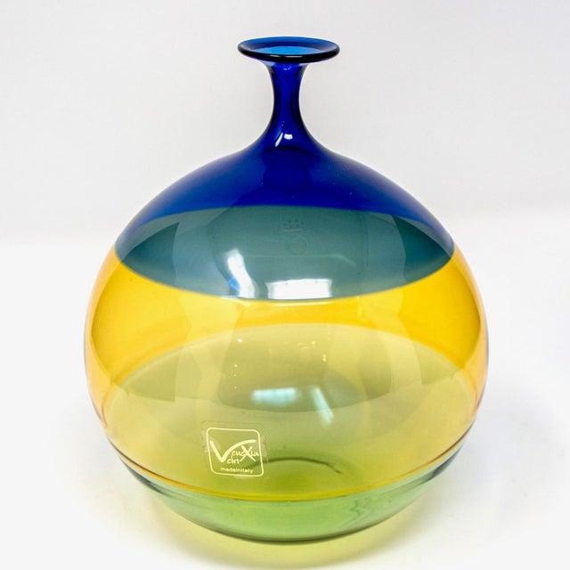 1990s Vinciprova Color Block Murano Glass Vase For Sale - Image 5 of 7