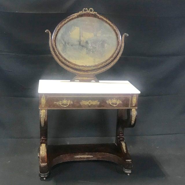 Ornate Lavish Charles X Mahogany Empire Dressing Table For Sale - Image 13 of 13