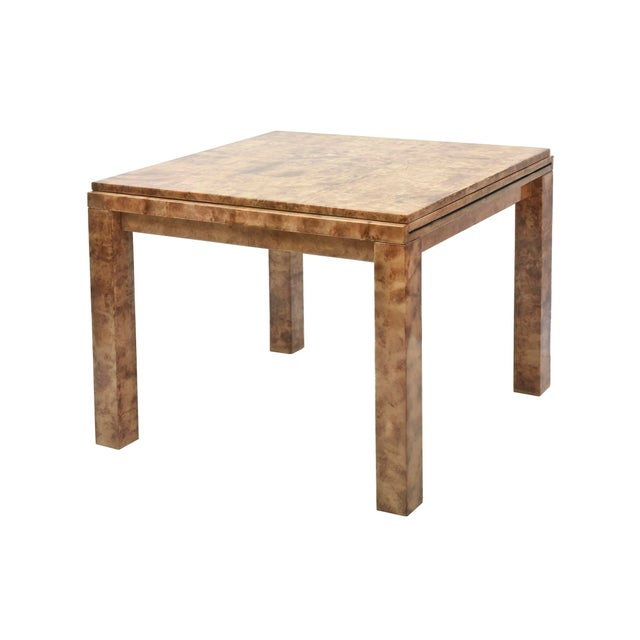 """Fine American Modern """"Goatskin"""" Game Table/Extension Dining Table, Karl Springer For Sale In Miami - Image 6 of 10"""