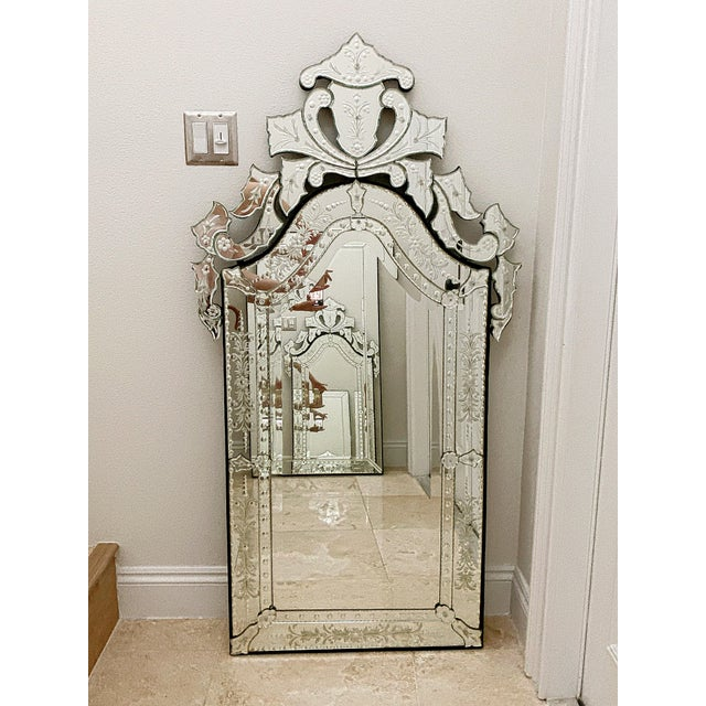 Vintage Venetian Tall Mirror For Sale - Image 12 of 12