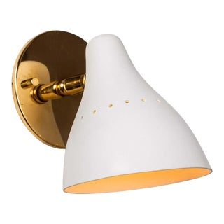 1950s Gino Sarfatti White Articulating Sconce for Arteluce For Sale