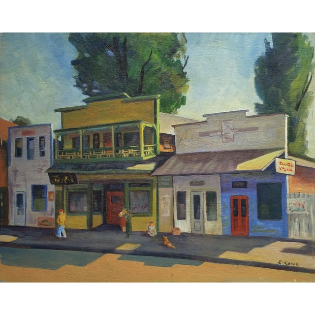1960s Vintage California Chinatown Painting For Sale - Image 4 of 4