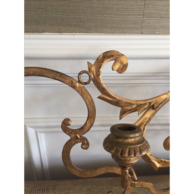 Gold Wall Mount Candelabra - Image 4 of 7