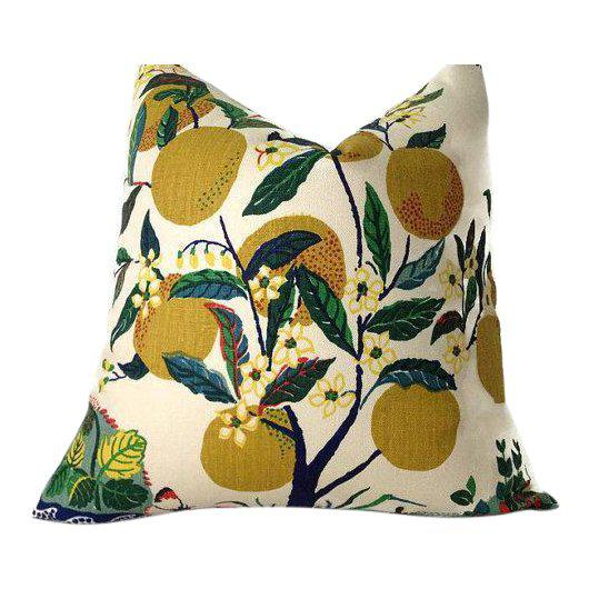 Not Yet Made - Made To Order Schumacher Citrus Garden Linen Pillow Cover For Sale - Image 5 of 5