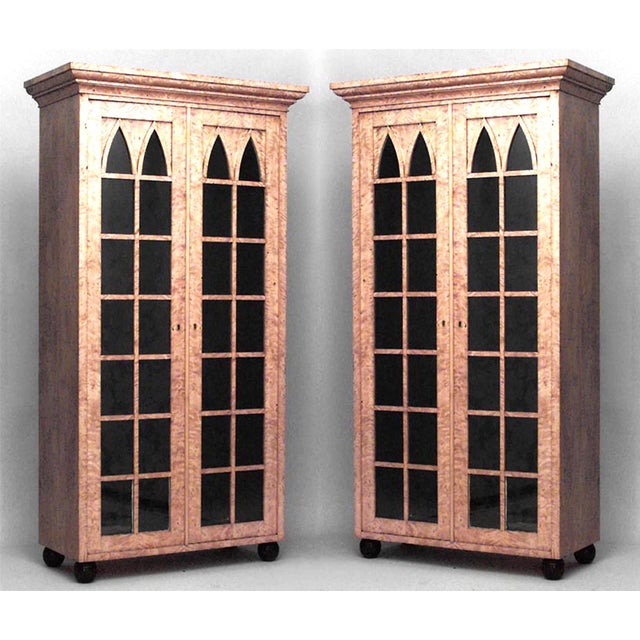 Mid 19th Century Pair of German Biedermeier Bookcase Cabinets For Sale - Image 5 of 5
