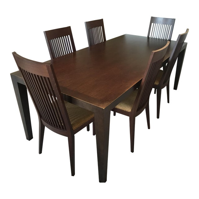 Room & Board Bamboo Timbre Table and 6 Chairs - Image 1 of 8