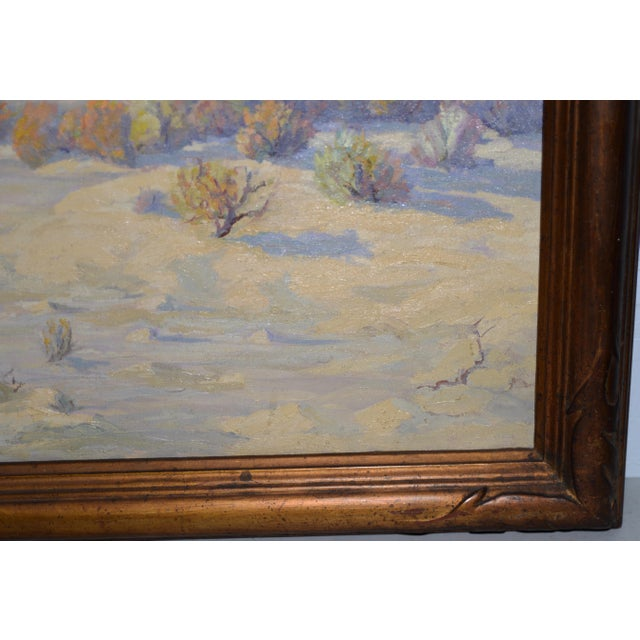 """Red Mesa, Az"" Original Desert Landscape Painting C.1940s For Sale - Image 4 of 13"