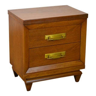 "Kent Coffey ""The Grandeur"" Mid Century Modern Walnut Nightstand"